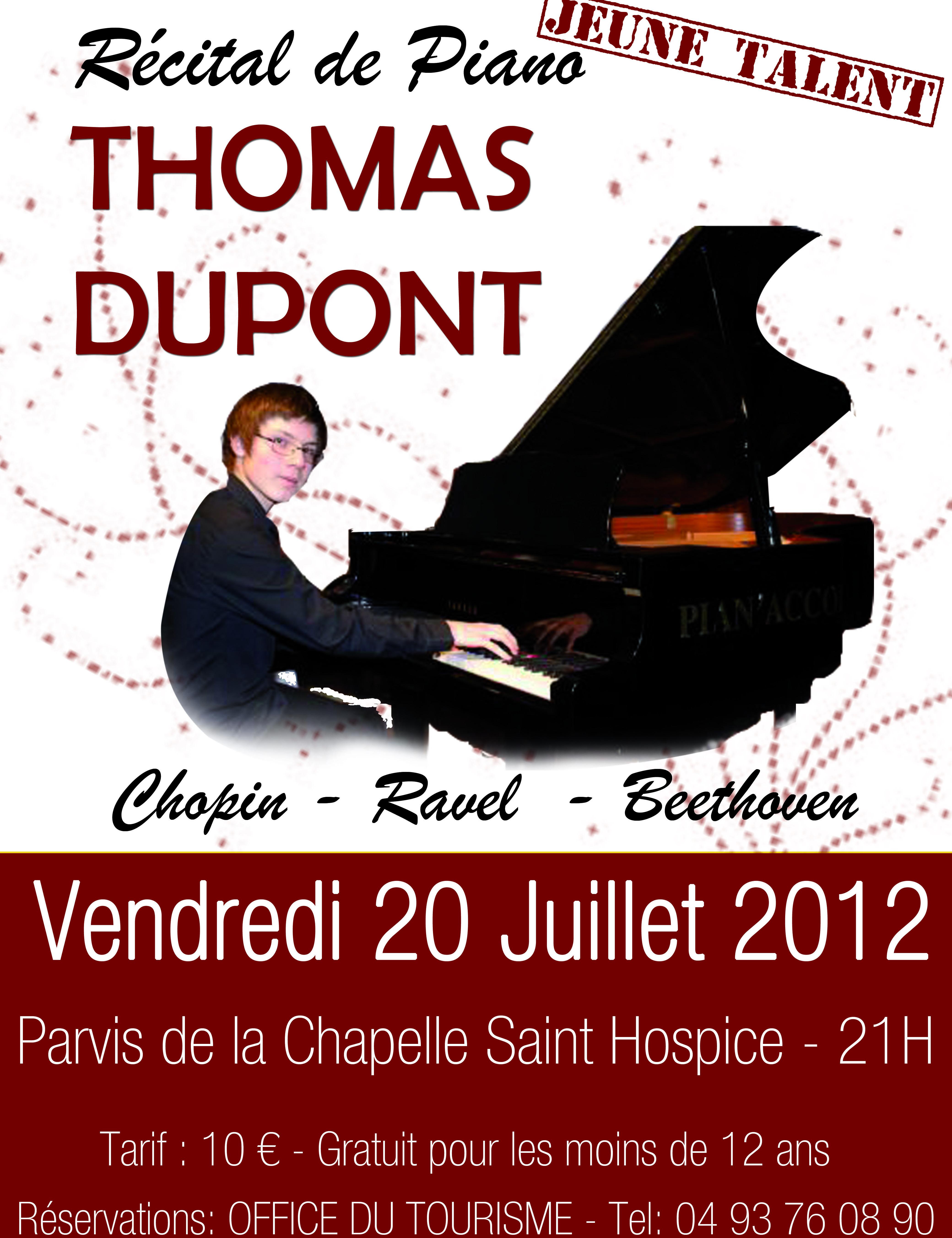 RÉCITAL DE PIANO THOMAS DUPONT