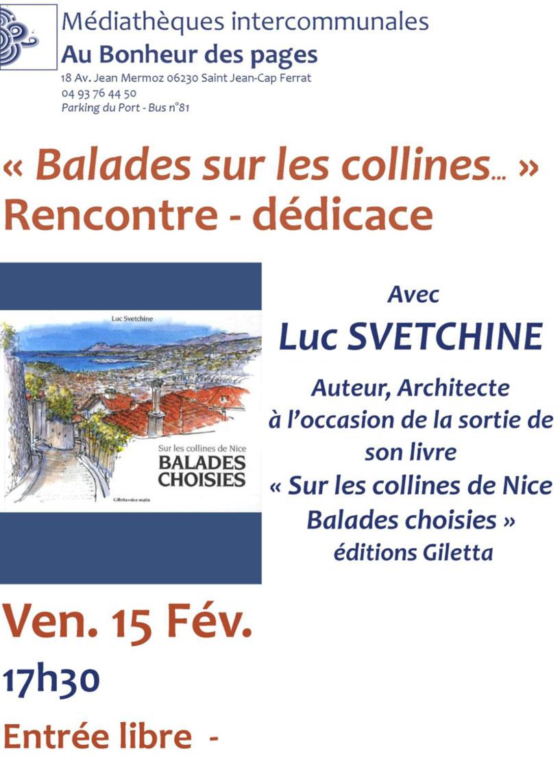BALADES SUR LES COLLINES DE LUC SVETCHINE
