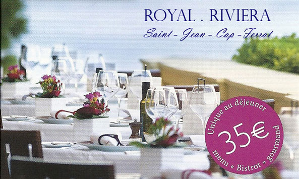 LA TABLE DU ROYAL RIVIERA