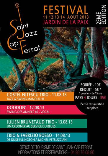 Saint jazz cap ferrat 2eme edition marine shipping office - Office du tourisme saint jean cap ferrat ...