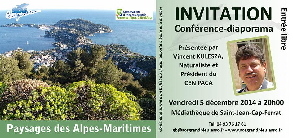 Conférence «Les paysages des Alpes-Maritimes»